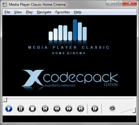 Media Player Classic-HC - X Codec Pack Edition