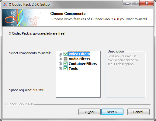 X Codec Pack - Components